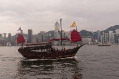 färja Hong Kong Arkivbild