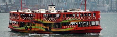 färja Hong Kong Royaltyfri Foto