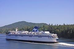 Färja i Georgia Strait royaltyfria foton