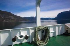 Färja i Norge Fotografering för Bildbyråer