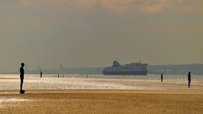 Färja på Merseyen royaltyfri fotografi
