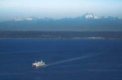 Färja på Puget Sound Arkivbilder