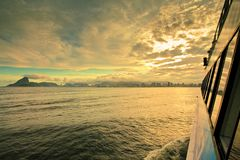 Färja Rio de Janeiro Brasilien Royaltyfria Bilder