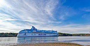 Färja Silja Galaxy Fotografering för Bildbyråer
