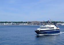 färjahelsingborg för 01 fartyg passagerare Arkivbild