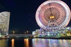 Färjahjul på Yokohama, Japan Royaltyfria Bilder
