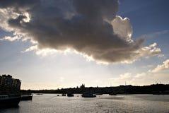 Färjer trans. på ön av Malta Royaltyfri Bild