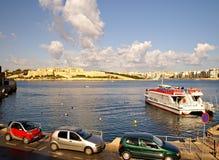 Färjer trans. på ön av Malta Royaltyfri Fotografi