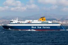 Färjor för blå stjärna Arkivfoto
