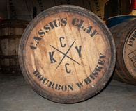 Fässer Bourbon-Whisky stockfotografie
