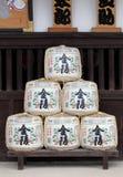 Fässer des japanischen Grundes Stockfotos