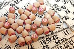 Fässer für Spiel im Lotto Stockfotografie