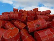 Fässer mit brennbarem Inhalt 3d übertragen Lizenzfreies Stockfoto