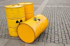 Fässer von Biohazard Lizenzfreie Stockfotos