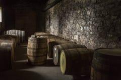 Fässer von Malt Whisky - Irland Lizenzfreie Stockfotografie