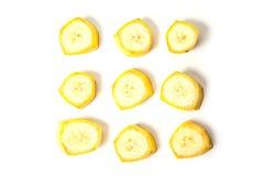fästande ihop bland annat banaskivor för banan Royaltyfri Foto
