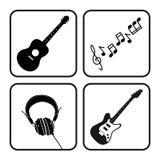 fästande ihop den digitala bland annat musikbanor för symboler illustrationen skrapar Arkivbilder