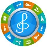fästande ihop den digitala bland annat musikbanor för symboler illustrationen skrapar Royaltyfri Fotografi