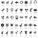 fästande ihop den digitala bland annat musikbanor för symboler illustrationen skrapar Royaltyfria Bilder