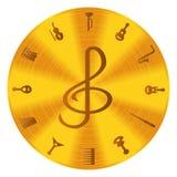 fästande ihop den digitala bland annat musikbanor för symboler illustrationen skrapar Royaltyfria Foton