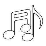 fästande ihop den digitala bland annat musikbanor för symboler illustrationen skrapar Arkivfoto