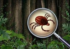Fästingar Forest Warning stock illustrationer