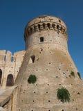 Fästning Acquaviva Picena- Italien Arkivfoton