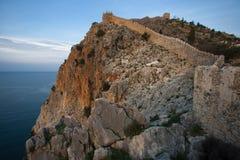 Fästning av Alanya arkivbilder
