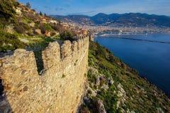 Fästning av Alanya royaltyfria foton