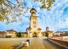 Fästning av Alba Iulia, Transylvania, Rumänien Arkivbild