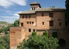 Fästning av Alhambraen i granada Fotografering för Bildbyråer