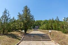 Fästning av den bulgariska tsar Samuel nära by av Kliuch, Blagoevgrad region, bulgariska Arkivbilder