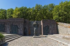 Fästning av den bulgariska tsar Samuel nära by av Kliuch, Blagoevgrad region, bulgariska Royaltyfri Foto
