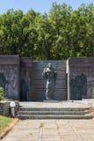 Fästning av den bulgariska tsar Samuel nära by av Kliuch, Blagoevgrad region, bulgariska Fotografering för Bildbyråer