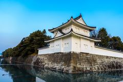 Fästning av den Nijo slotten, Kyoto Japan Fotografering för Bildbyråer