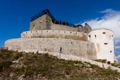 Fästning av Deva i Rumänien arkivfoton