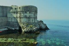 Fästning av Dubrovnic Arkivbild