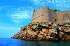 Fästning av Dubrovnik, Kroatien Arkivbilder