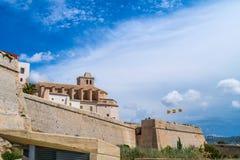 Fästning av Ibiza royaltyfria foton