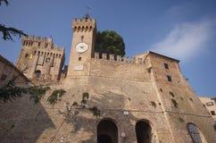 Fästning av Offagna, Marche, Italien Royaltyfri Bild