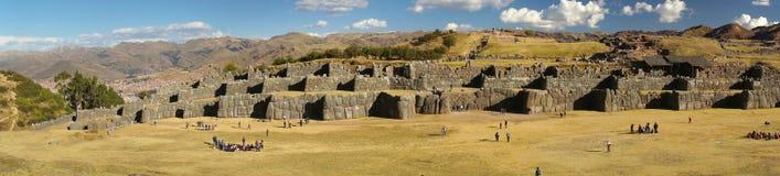 Fästning av Sacsayhuaman, Cusco, Peru Royaltyfri Fotografi