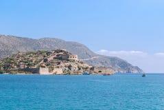 Fästning av Spinalonga i Kreta Royaltyfri Foto