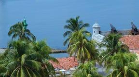 Fästning Castillo de los Tres Reyes del Morro Royaltyfria Bilder