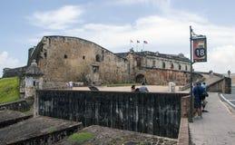 Fästning Castillo San Cristobal i Puerto Rico Arkivbilder