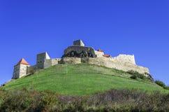 Fästning (citadell) av Rupea Arkivbilder