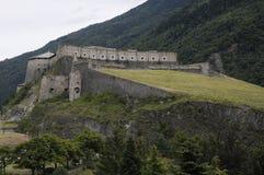 fästning för 1339 1829 exilles Arkivbilder