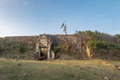 Fästning för Nossa Senhora DOS Remedios - Fernando de Noronha, Pernambuco, Brasilien royaltyfri bild