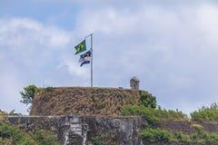 Fästning för Nossa Senhora DOS Remedios - Fernando de Noronha, Pernambuco, Brasilien royaltyfri foto