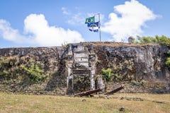 Fästning för Nossa Senhora DOS Remedios - Fernando de Noronha, Pernambuco, Brasilien arkivfoton