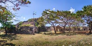 Fästning för Nossa Senhora DOS Remedios - Fernando de Noronha, Pernambuco, Brasilien arkivbilder